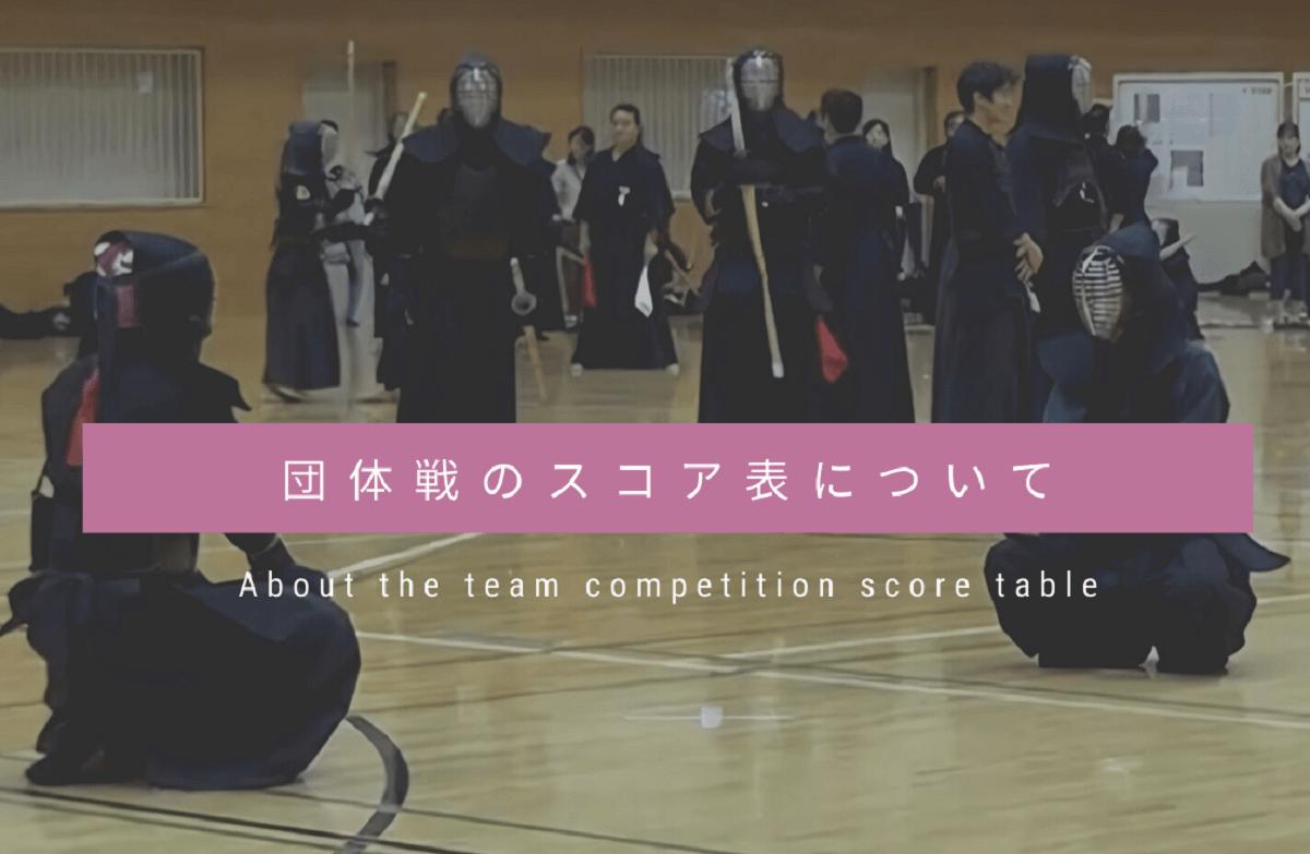剣道の団体戦のスコア表の書き方と効果を徹底解説【サンプル有】